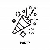 Party Icon Isolated On White Background. Party Icon Simple Sign. Party Icon Trendy And Modern Symbol poster