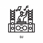 Dj Icon Isolated On White Background. Dj Icon Simple Sign. Dj Icon Trendy And Modern Symbol For Grap poster