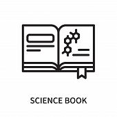 Science Book Icon Isolated On White Background. Science Book Icon Simple Sign. Science Book Icon Tre poster