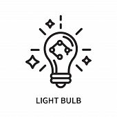 Light Bulb Icon Isolated On White Background. Light Bulb Icon Simple Sign. Light Bulb Icon Trendy An poster
