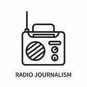 Radio Journalism Icon Isolated On White Background. Radio Journalism Icon Simple Sign. Radio Journal poster