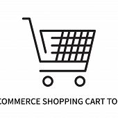 E Commerce Shopping Cart Tool Icon Isolated On White Background. E Commerce Shopping Cart Tool Icon  poster