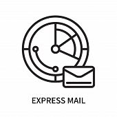 Express Mail Icon Isolated On White Background. Express Mail Icon Simple Sign. Express Mail Icon Tre poster