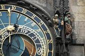 image of mikulas  - detail of the famous astronomical clock on town square Prague - JPG