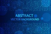 Abstract Futuristic Circuit Board, Illustration High Computer Technology Dark Blue Color Background. poster