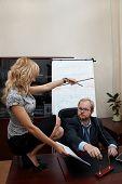 Sexy Secretary Manipulates A Boss. Boss Sign A Treaty.