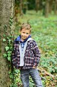 I Never Get Tired Of Smiling. Smiling Happy Boy. Little Boy Smiling In Forest. Little Child With Ado poster