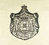 Wappen von Shanghai (China). Illustration von Alwin Zschiesche, veröffentlicht am