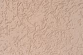 Structure Of Wall Covered With Beige Textured Putty poster