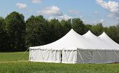 picture of canopy roof  - events or wedding tent in the country field - JPG