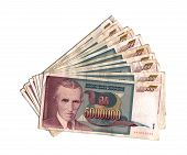 stock photo of former yugoslavia  - Dinar of former Yugoslavia  - JPG