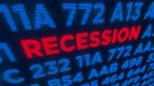 Recession Business And Stock Crisis Concept. Economy Crash And Markets Down 3d Illustration. Screen  poster