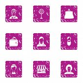 Private Practice Icons Set. Grunge Set Of 9 Private Practice Icons For Web Isolated On White Backgro poster