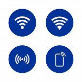 Set Of Wifi Signal Design Vector, Wifi Collection Vector, Wifi Signal Vector, Wifi Icon Collection poster