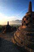 stock photo of arjuna  - Borobudur Temple Stupa in Yogyakarta - JPG