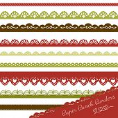Christmas Set of hand-drawn Lace Paper Punch Borders
