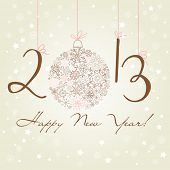 2012 Happy New Year background.