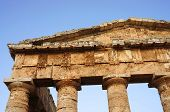 The greek temple of Segesta in Sicily