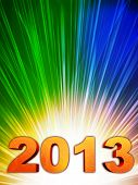 Golden Year 2013 With Rainbow Rays
