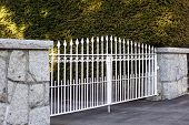 White Metal Gate