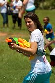 Young Woman Squirts And Gets Squirted In Water Gun Fight