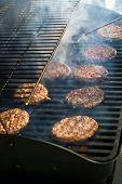 Bbq Hamburgers With Smoke