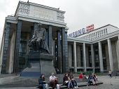 Moscow, Russia - June 27, 2008: Monument Of Fedor Dostoevski In Square Near State Library On June 27