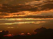 Orange Sunset In The Sky
