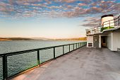 stock photo of orca  - WA state ferry from Anacortes to Orcas Island - JPG
