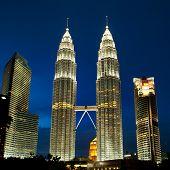 stock photo of petronas twin towers  - Cityscape of Kuala Lumpur Malaysia - JPG