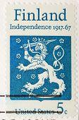 Vintage Us Stamp 1967 Finland Anniversary