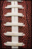 American Football Laces Closeup