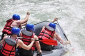 Rafting, Splashing The White Water