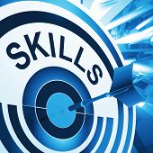 Skills Target Means Aptitude, Competence And Abilities