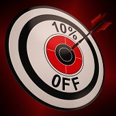 10 Percent Off Shows Markdown Bargain Advertisement