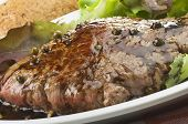 rump steak with green pepper