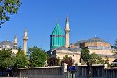 image of sufi  - Mevlana museum and mosque in Konya Turkey - JPG