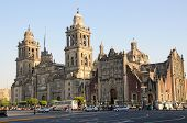 stock photo of tabernacle  - Cathedral Metropolitana and Metropolitan Tabernacle Mexico City Mexico - JPG