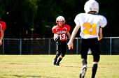 Youth Running Back Football Player