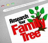 An online database for researching your family tree and heritage on a website library of historical