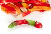 Colorful Fruity Gummy Worm Candy