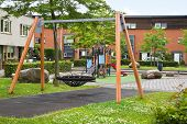 Safe Playground In Modern Suburb For Young Children