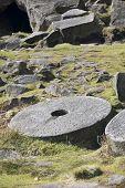Millstone at Stanage Edge, Peak District UK