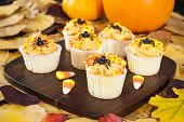Halloween Cupcakes With Candy Corns