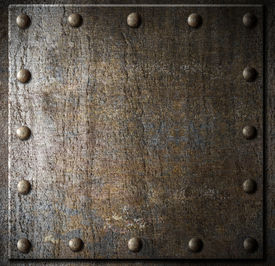 foto of ironclad  - metal background with rivets - JPG