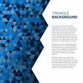 Geometric blue background with tirangles