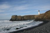 Yaquina Head Lighthouse Landscape