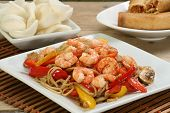 Chinese Prawn Chow Mein