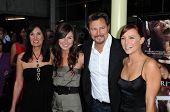 Pamela Serpe and Greg Evigan  with Briana Evigan and family at the Los Angeles Premiere of 'Sorority