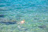 Swimmer In The Baska Sea, Croatia